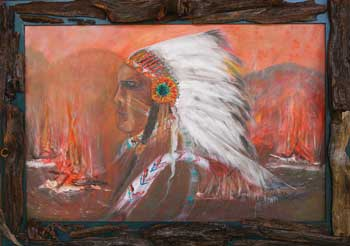 Image of 'The Fire Still Burns', an oil painting by Edy Gilreath