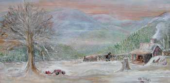 Image of 'A Cold Winter Day', an oil painting by Edy Gilreath